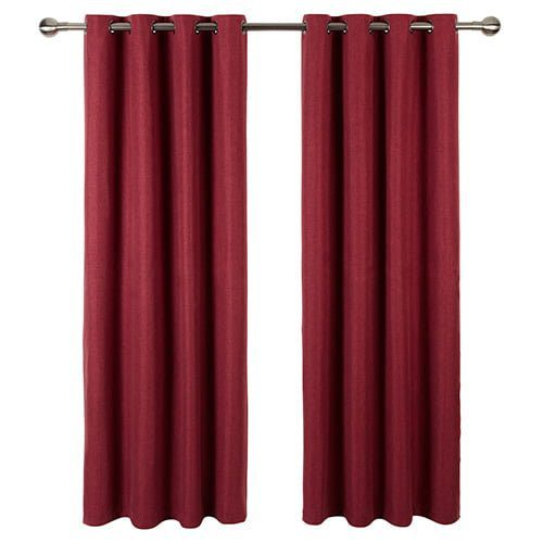 Grainy-Natural-Weave-Red-Curtain-F